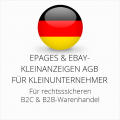 abmahnsichere ePages und Ebay-Kleinanzeigen AGB B2C und B2B für Kleinunternehmer