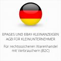 abmahnsichere ePages und Ebay-Kleinanzeigen AGB für Kleinunternehmer