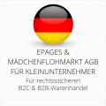 abmahnsichere ePages und Mädchenflohmarkt AGB B2C und B2B für Kleinunternehmer