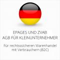 abmahnsichere ePages und ZVAB AGB für Kleinunternehmer