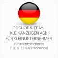 abmahnsichere es-shop und Ebay-Kleinanzeigen AGB B2C und B2B für Kleinunternehmer