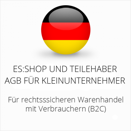 abmahnsichere es-shop und Teilehaber AGB für Kleinunternehmer