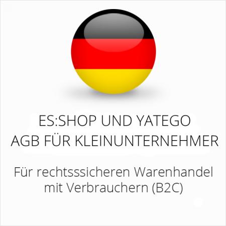 abmahnsichere es-shop und Yatego AGB für Kleinunternehmer