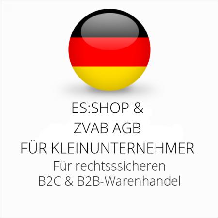 abmahnsichere es-shop und ZVAB AGB B2C und B2B für Kleinunternehmer