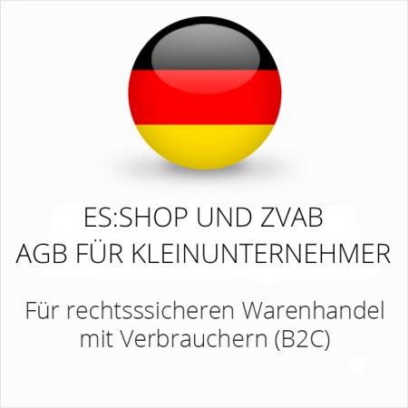 abmahnsichere es-shop und ZVAB AGB für Kleinunternehmer