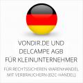 abmahnsichere vondir.de und Delcampe AGB für Kleinunternehmer