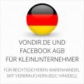 abmahnsichere vondir.de und Facebook AGB für Kleinunternehmer