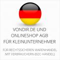 abmahnsichere vondir.de und Onlineshop AGB für Kleinunternehmer