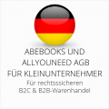 abmahnsichere Abebooks und Allyouneed AGB B2C und B2B für Kleinunternehmer