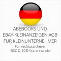 abmahnsichere Abebooks und Ebay-Kleinanzeigen AGB B2C und B2B für Kleinunternehmer