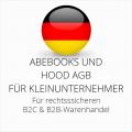 abmahnsichere Abebooks und Hood AGB B2C und B2B für Kleinunternehmer