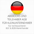 abmahnsichere Abebooks und Teilehaber AGB B2C und B2B für Kleinunternehmer