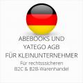abmahnsichere Abebooks und Yatego AGB B2C und B2B für Kleinunternehmer