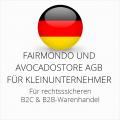 abmahnsichere Fairmondo und Avocadostore AGB B2C und B2B für Kleinunternehmer