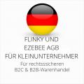 abmahnsichere Flinky und Ezebee AGB B2C und B2B für Kleinunternehmer
