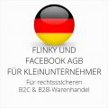 abmahnsichere Flinky und Facebook AGB B2C und B2B für Kleinunternehmer