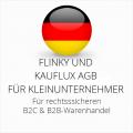 abmahnsichere Flinky und Kauflux AGB B2C und B2B für Kleinunternehmer