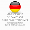 abmahnsichere MA-Shops und Delcampe AGB B2C und B2B für Kleinunternehmer