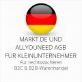 abmahnsichere Markt.de und Allyouneed AGB B2C und B2B für Kleinunternehmer