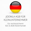 abmahnsichere Joomla AGB für Kleinunternehmer B2C & B2B