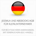 abmahnsichere Joomla und Abebooks AGB für Kleinunternehmer