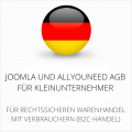 abmahnsichere Joomla und Allyouneed AGB für Kleinunternehmer