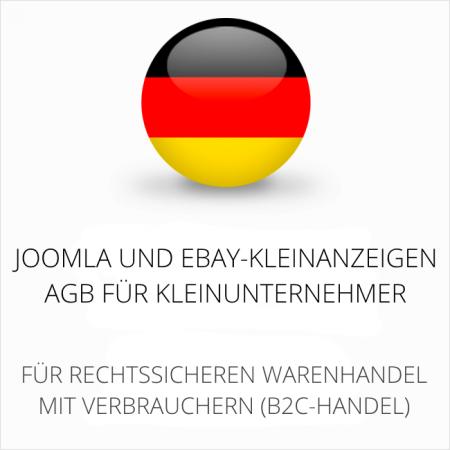 abmahnsichere Joomla und Ebay-Kleinanzeigen AGB für Kleinunternehmer