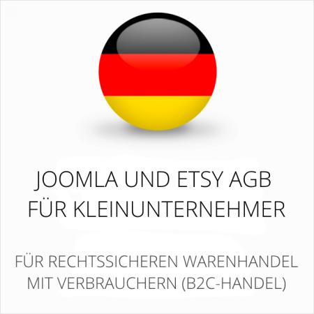 abmahnsichere Joomla und Etsy AGB für Kleinunternehmer