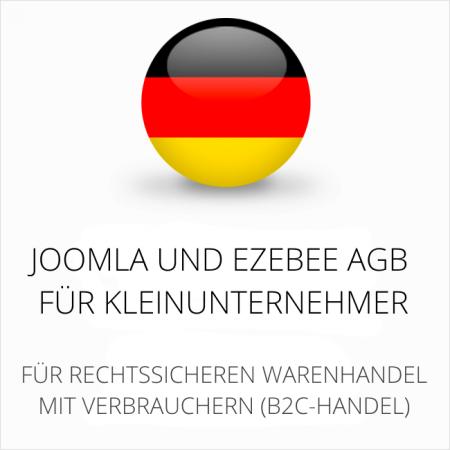 abmahnsichere Joomla und Ezebee AGB für Kleinunternehmer