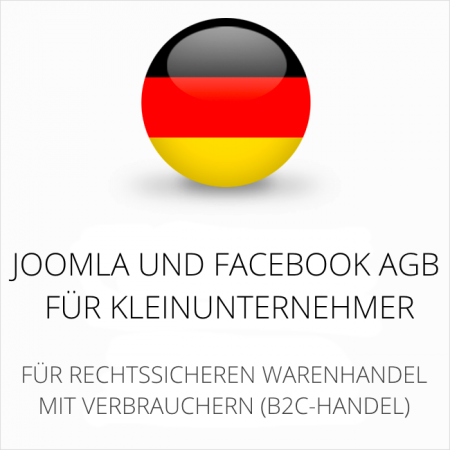 abmahnsichere Joomla und Facebook AGB für Kleinunternehmer