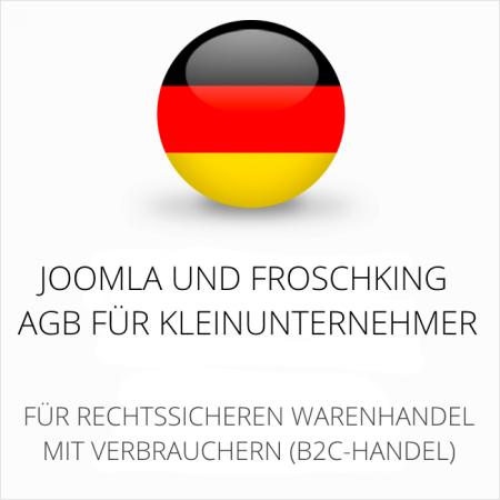 abmahnsichere Joomla und Froschking AGB für Kleinunternehmer