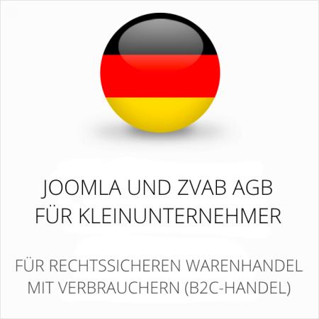 abmahnsichere Joomla und ZVAB AGB für Kleinunternehmer