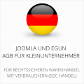 abmahnsichere Joomla und eGun AGB für Kleinunternehmer