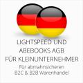 abmahnsichere Lightspeed und Abebooks AGB B2C & B2B für Kleinunternehmer