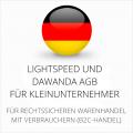 abmahnsichere Lightspeed und Dawanda AGB für Kleinunternehmer