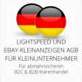 abmahnsichere Lightspeed und Ebay-Kleinanzeigen AGB B2C & B2B für Kleinunternehmer