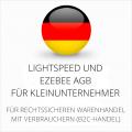 abmahnsichere Lightspeed und Ezebee AGB für Kleinunternehmer