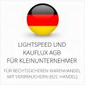 abmahnsichere Lightspeed und Kauflux AGB für Kleinunternehmer