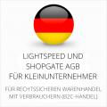 abmahnsichere Lightspeed und Shopgate AGB für Kleinunternehmer