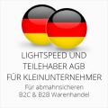 abmahnsichere Lightspeed und Teilehaber AGB B2C & B2B für Kleinunternehmer