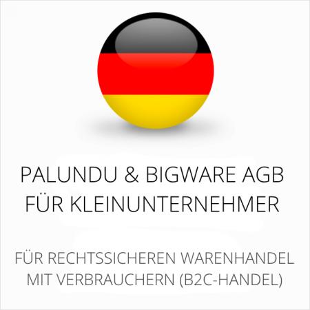 abmahnsichere Palundu und Bigware AGB für Kleinunternehmer