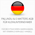 abmahnsichere Palundu und E-Matters AGB für Kleinunternehmer