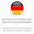 abmahnsichere Palundu und HotDigital-Shop AGB für Kleinunternehmer