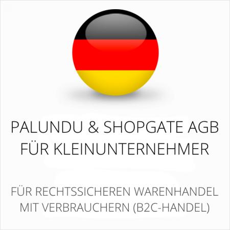 abmahnsichere Palundu und Shopgate AGB für Kleinunternehmer