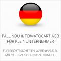 abmahnsichere Palundu und Tomatocart AGB für Kleinunternehmer