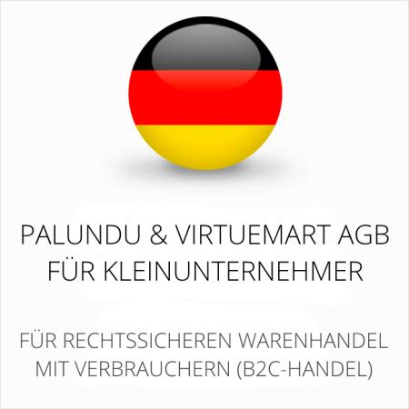abmahnsichere Palundu und VirtueMart AGB für Kleinunternehmer