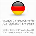 abmahnsichere Palundu und wpShopgermany AGB für Kleinunternehmer