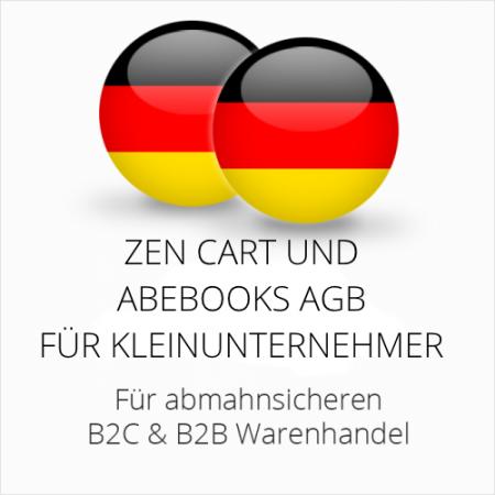 abmahnsichere Zen Cart und Abebooks AGB B2C & B2B für Kleinunternehmer