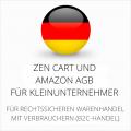abmahnsichere Zen Cart und Amazon AGB für Kleinunternehmer