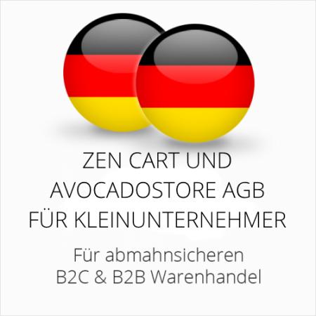 abmahnsichere Zen Cart und Avocadostore AGB B2C & B2B für Kleinunternehmer